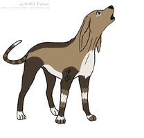 Tribal coonhound by xXxCorpseAdoptsxXx