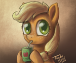 Filly Applejack enjoys farm fresh Cider by TurboSolid