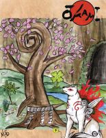 okami 3 colored by Miss-Melis