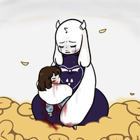 Frisk's Death by Monguri