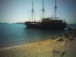Greece Pirate Ship by Maxonmars