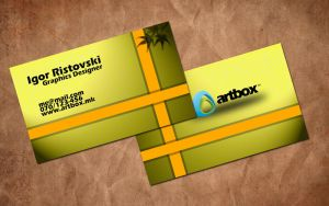 Yellow business cards by comodore64