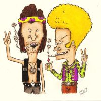 Beavis and Butthead do the 70s by StarvingArtist513
