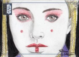Star Wars G6 - Queen Amidala Sketch Art Card - RC by DenaeFrazierStudios