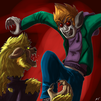 Eddsworld: Matt Sucks vs. Mark Bites by Falljoydelux