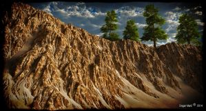 Vue rocks and pine by dragan45