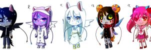 2nd Gashapon Adopts by Spade-N