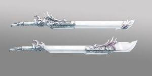 Dragon Twin Swords by JackTheTOY