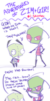 Adventures of Zim + GIR - Skittles by Brainworms