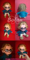 chibi Mort Rainey plush version by Momoiro-Botan