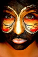butterfly face paint dark by bosha