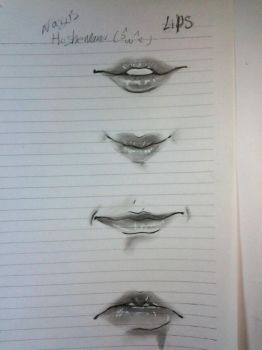 lips drawing  by Nersseanchan