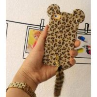 Leopard Print iPhone 5 Case with Panther Tail by tracylopez