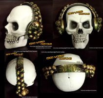 Aztec Gold Skullphones - Headphones by Edge-Works