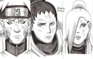 Ino-shika-cho fight against Asuma by DevilishMirajane