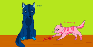 Blue and Strawberry by Hyperactive-Blue