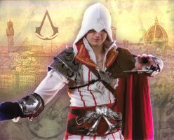 Ezio Cosplay Background by aFletcherKinnear