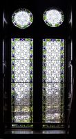 Stained Glass Thistle Window Repair by rdwGlass