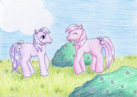 Blossom and Cotton Candy by NormaLeeInsane