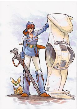 Nausicaa watercolor by Fpeniche