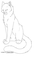 Free lineart Shorthair Cat by Nova-Nocturne