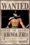 Wanted Roronoah Zoro by Missukka