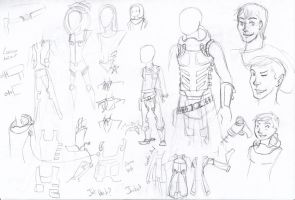 Sketch:Dasyurid: Character Design for Starzo by InsaneMonkey46