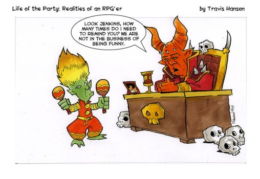 goblin work reviews - rpg comic lotp by travisJhanson