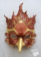 Fire Phoenix Leather Mask by b3designsllc