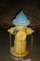 Yellow Fire Hydrant by annora-stock