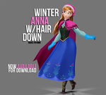 [MMD] Winter Anna Hair Down - AVAILABLE by wintrydrop