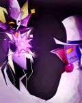 Dimentio and Count Bleck by mariogamesandenemies