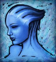 Liara T'Soni (speed painting) by CateLara