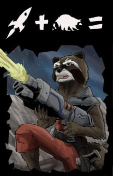Rocket Raccoon by brianthomaswolf