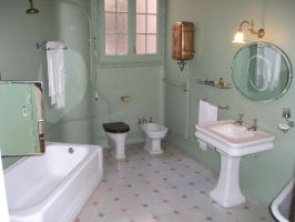 old bathroom by maladie-stock