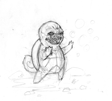 Squirtle pencils for Pokemon Triptych by jbyrd117
