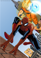 Spider man x Goku by lrslink
