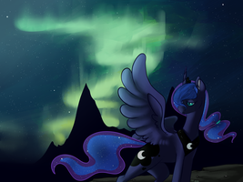 Lonely Moon by KittyIsAWolf