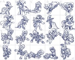 Trixie and Sapphire Shores Sketches by KP-ShadowSquirrel