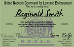 Man of UNCLE Custom Made ID Card by CmdrKerner