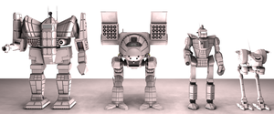 Battletech / MechWarrior Mesh Render 2 by lady-die