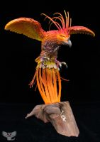 Rising Phoenix, Gourd Sculpture by ART-fromthe-HEART
