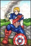 Captain America by Panda-Yuki