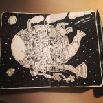 Space ship doodle by Chrisbscotland