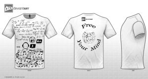 T shirt design - FREE YOUR MIND by laeti-k