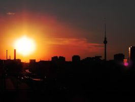 Sunset Berlin by FireMoose