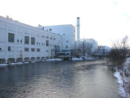 Fox River Industrial Factory by FantasyStock