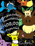 EeveeFanClub 100,000 Pageviews by SweetBeriiChu