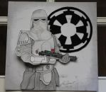 Star Wars Imperial Snowtrooper 3D painting by R1VENkassle