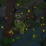Firefly Fishing by FrankenPup